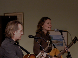 Richard Shindell & Antje Duvekot performing at Boccelli's last March